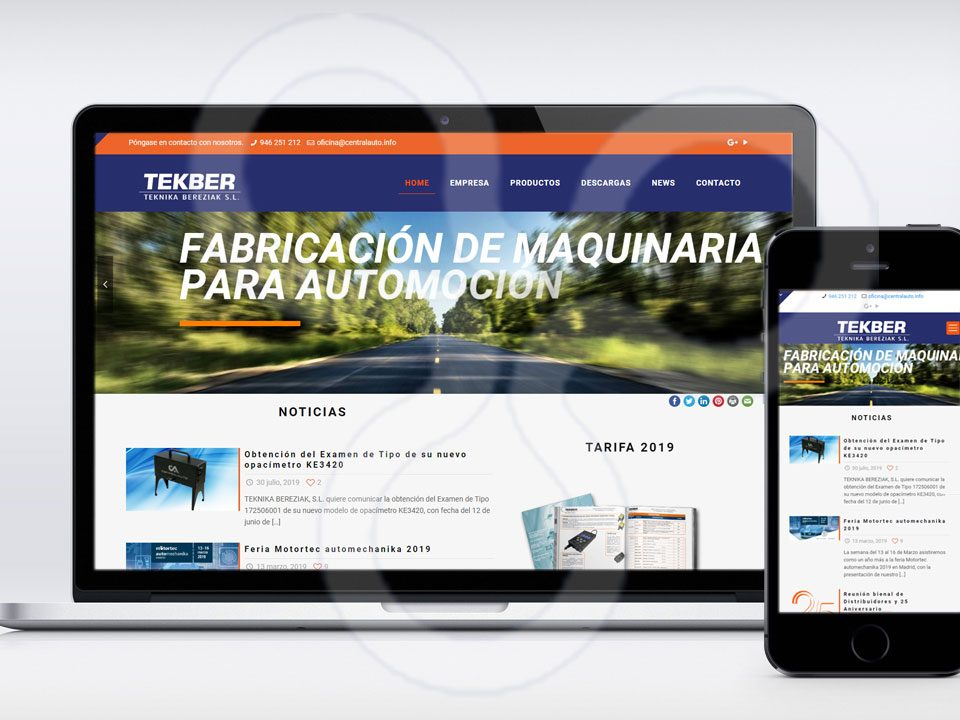 Web Centralauto - Tekber