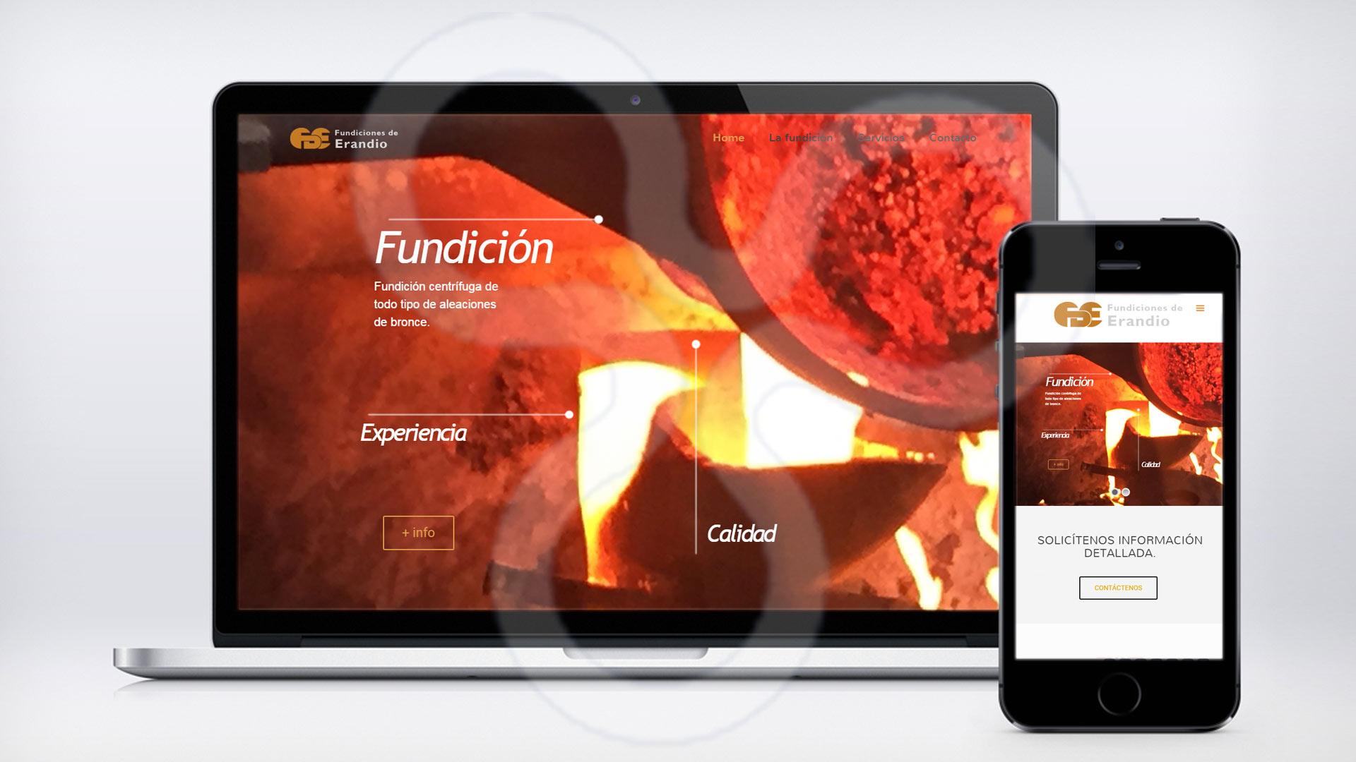 Web Fundiciones de Bronce
