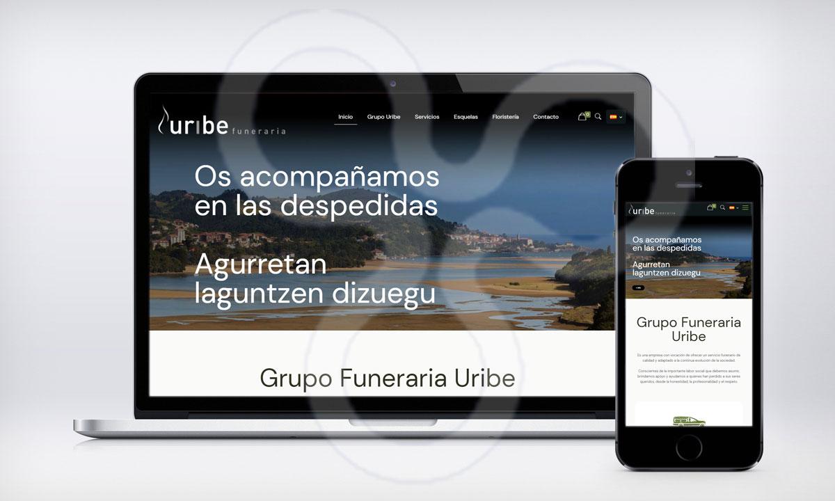Web Grupo Funeraria URIBA
