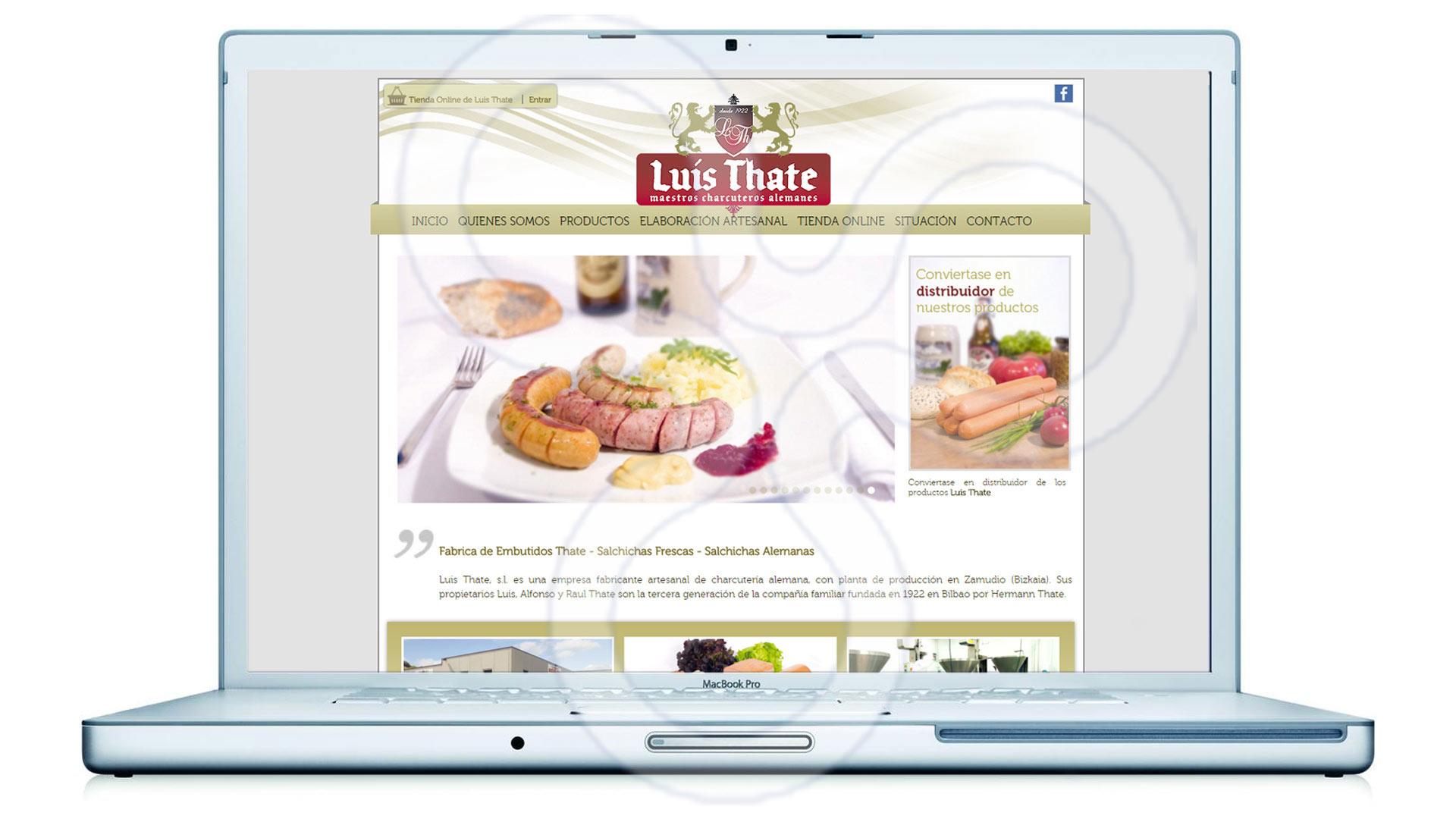 Identidad corporativa, catálogos, packaging y web para Luis Thate