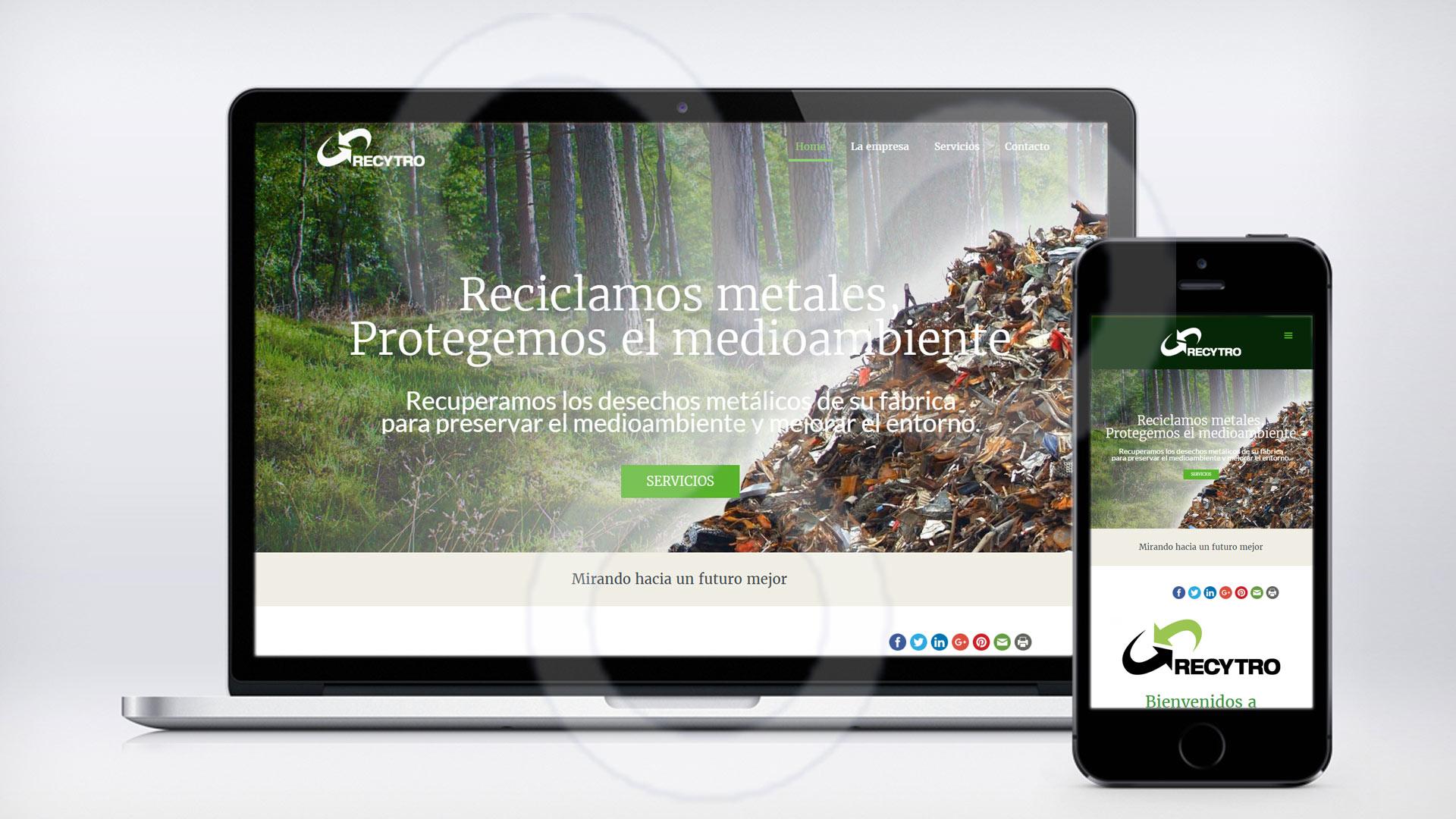 Web Recuperaciones y Troceados RECYTRO