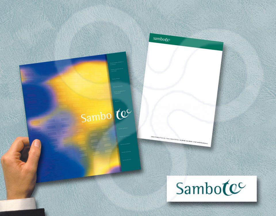 Identidad corporativa y catálogos para SAMBOTEC