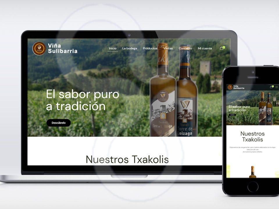 Web Viña Sulibarria - Bodegas de Galdames